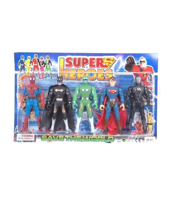 Pack of 5 - Super Heroes - Multicolor