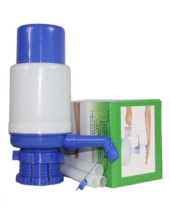 Water Dispenser Hand Press Pump - Medium - White & Blue