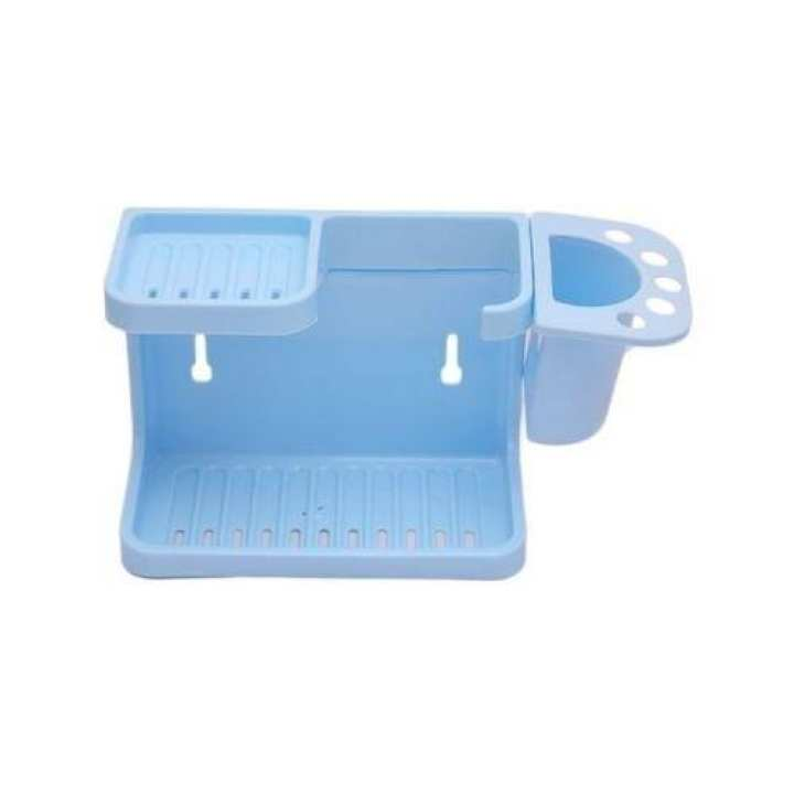 Wall Mountable Bathroom Rack Set - Light Blue