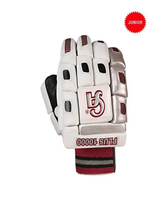 Junior Cricket Batting Gloves Plus 10000