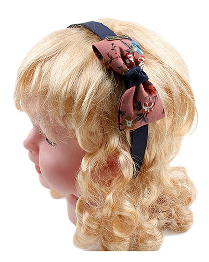 Bow Hairband - Pink & Blue