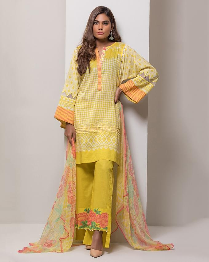 e6d6b5c5dd Lime Light 3 Pc Chiffon Embroidered Suit-OCCE3P-6022-A