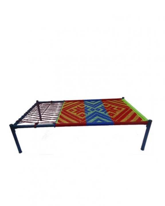 Fixed Bed - Blue & Green(Fixed Cot)
