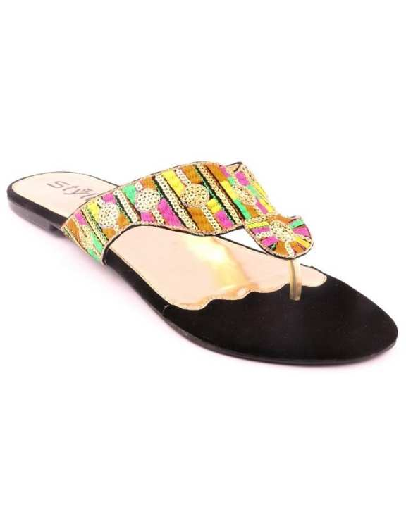 Multicolored Synthetic Casual Chappal for Women