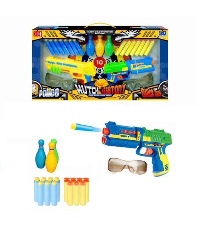 Soft Gun & Police Set - Multicolor