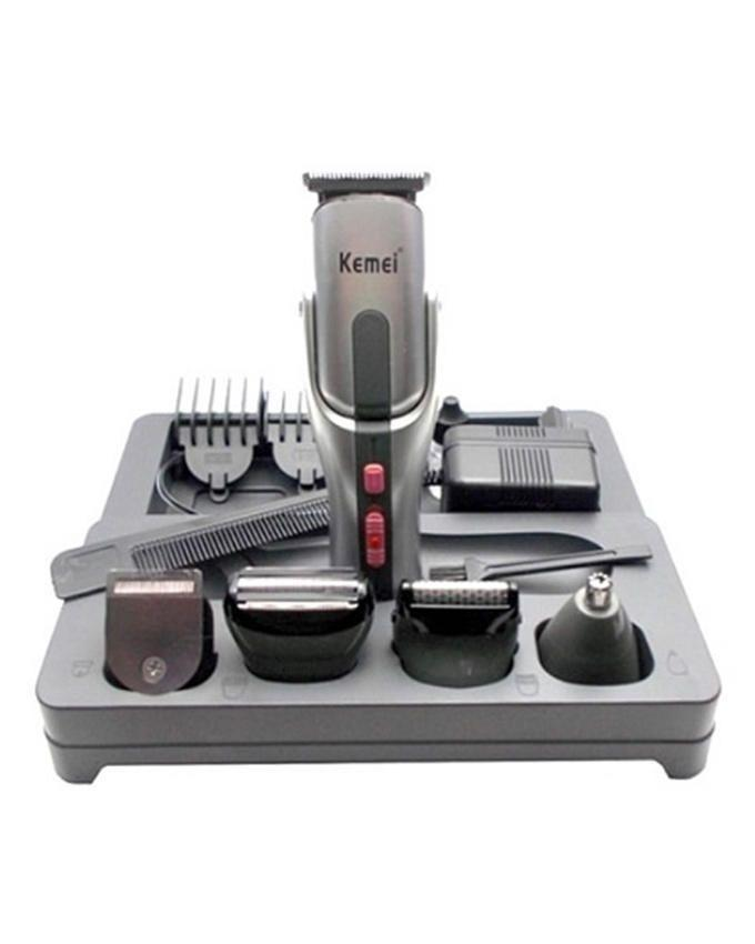 KM-680A - 8-in-1 - Grooming Kit for Men - Silver