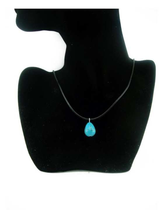 Turquoise Leather Cord Necklace For Women
