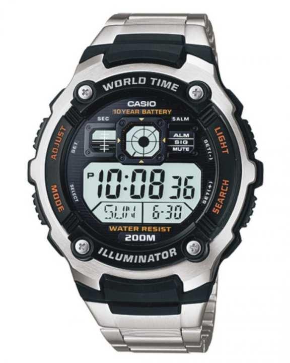 AE-2000WD-1AV - World Time Men's Digital Watch - Black