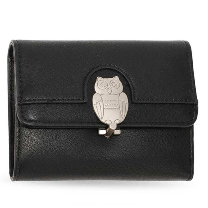 Flap Metal Owl Design Purse / Wallet