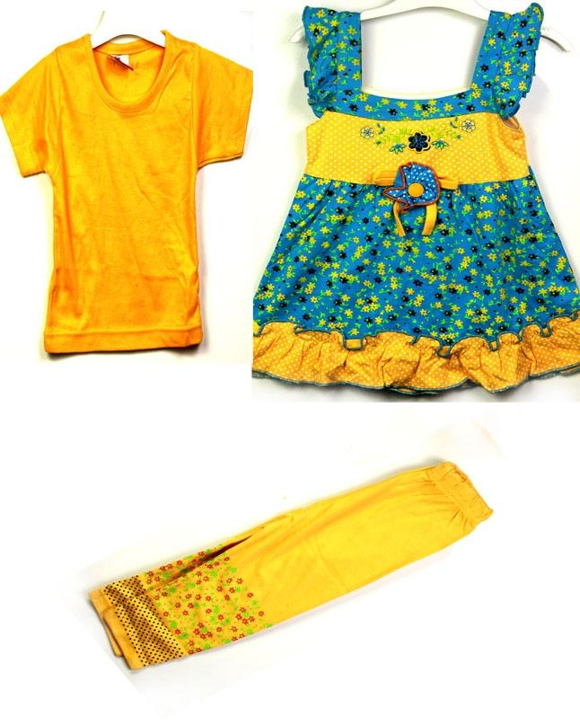 3Pcs Baby Girl New Born Kids Children Clothes Export Quality