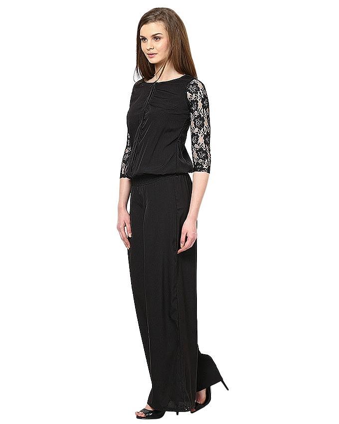 Black Chiffon Jumpsuit For Women