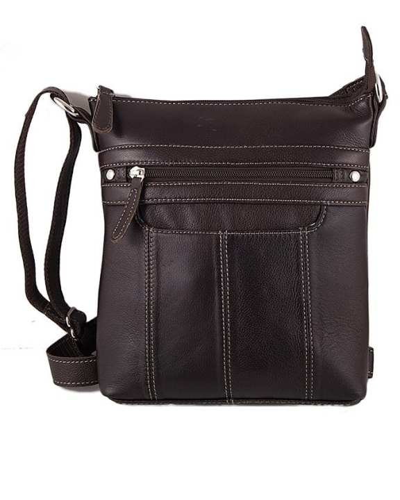 Brown Leather Cross Body Bag For Women