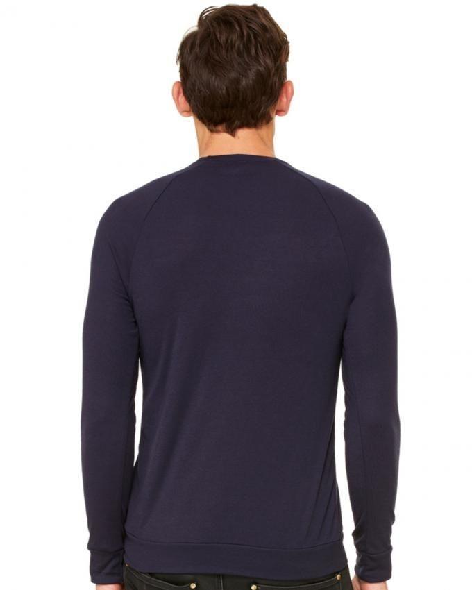 Navy Cotton & Fleece Sweatshirt for Men - EP_1192