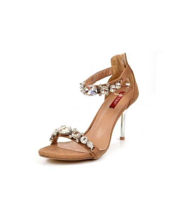 Women's Cream High Heels Sandal