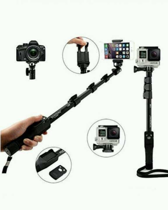 Remote Bluetooth Mobile Selfie Stick - Black