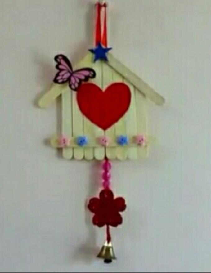 Wall Hanging Craft With Popsicle Sticks Buy Online At Best Prices