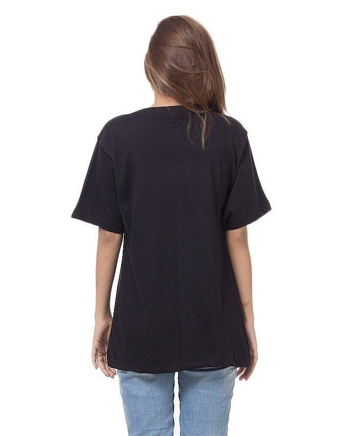 Black Cotton Beauty Printed T-Shirt For Women