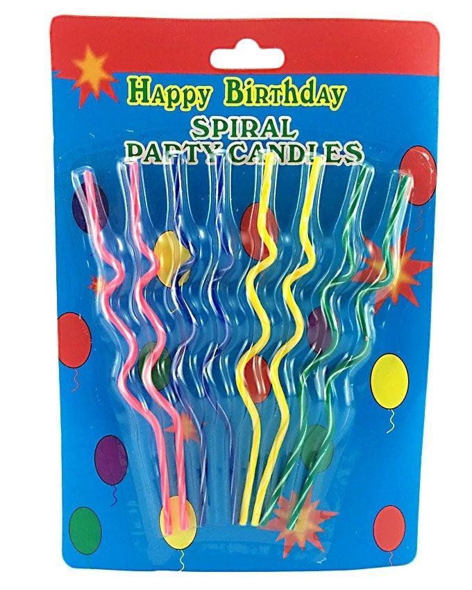 Birthday Spiral Twist Candles - Multicolor