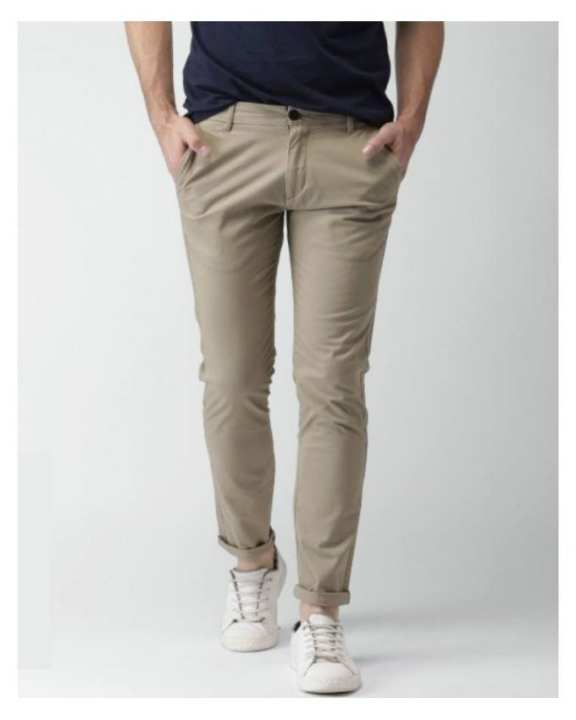 Beige - Cotton Chino Pant For Men
