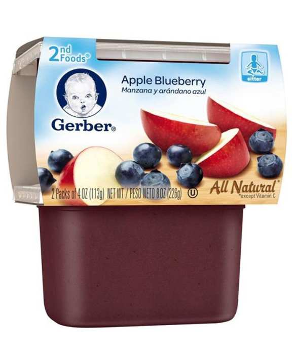 Apple Blueberry Baby Pudding