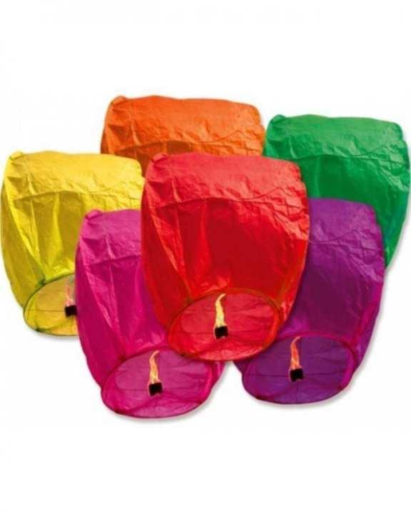 Pack of 5 - Sky Lanterns - Multicolor