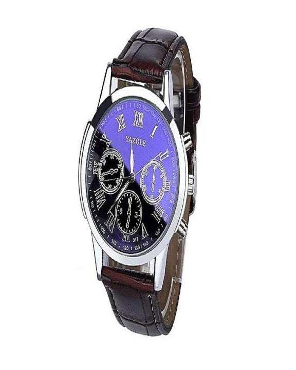 Yazole Stainless Steel - Men - Chronograph Wrist Watch - Blue & Brown