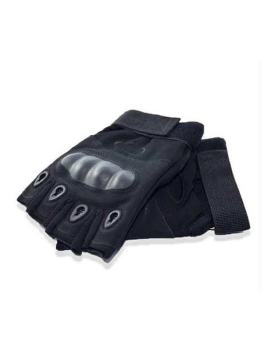 Tactical Gloves Military Fingerless Hard Rubber Knuckle Half Finger Gloves