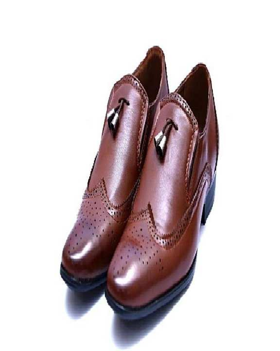 Brown Pu Leather Shoes For Men