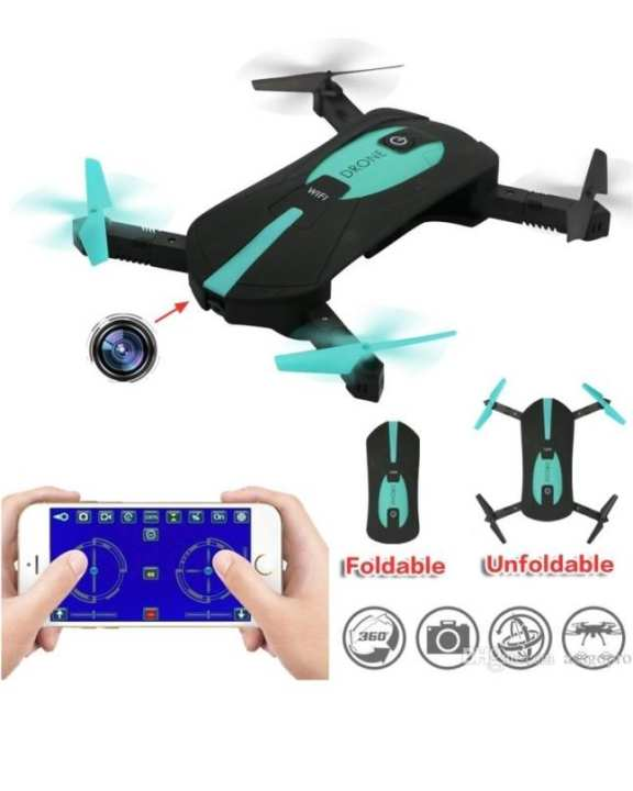 Jy018 Wifi Quadcopter With Camera Foldable Arm Altitude Hold Rc Mini Quadcopter Selfie Pocket Drone