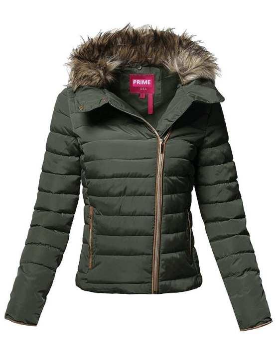 Green Parachute Jacket For Women