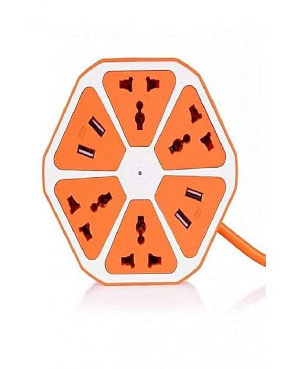 Multi Power Plug Extension - 4 Power Sockets & 4 Usb Ports