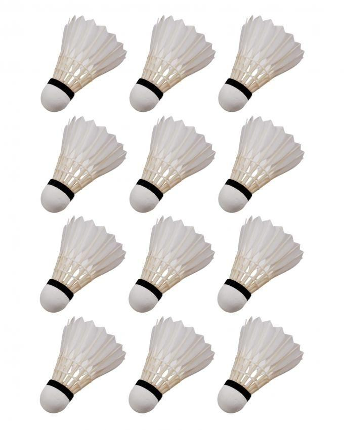 Pack of 12 - Feather Shuttle Cock - White