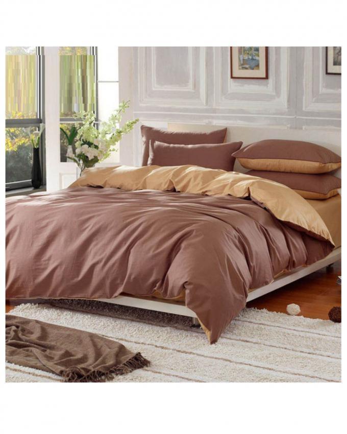 Brown Cotton Bed Set