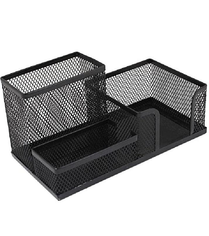 Metal Pen Stand Mesh Style Stationary Holder Desk Organizer Black