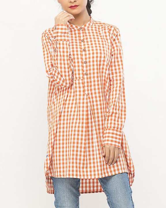 Cotton New Banded Collar Shirt Mossy Heather - Woven Shirts