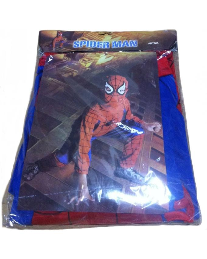 Spiderman Costume for Kids Age 7-8 Years Red & Blue Polyester