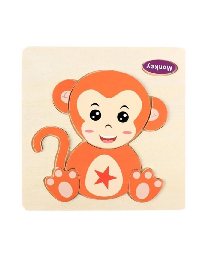 Wooden Monkey Puzzle Kids Educational Toys Multicolor