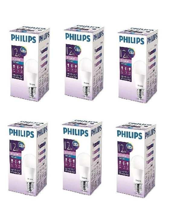 Pack Of Six - Philips Ess Led Bulb 12W E27 Cool Day Light