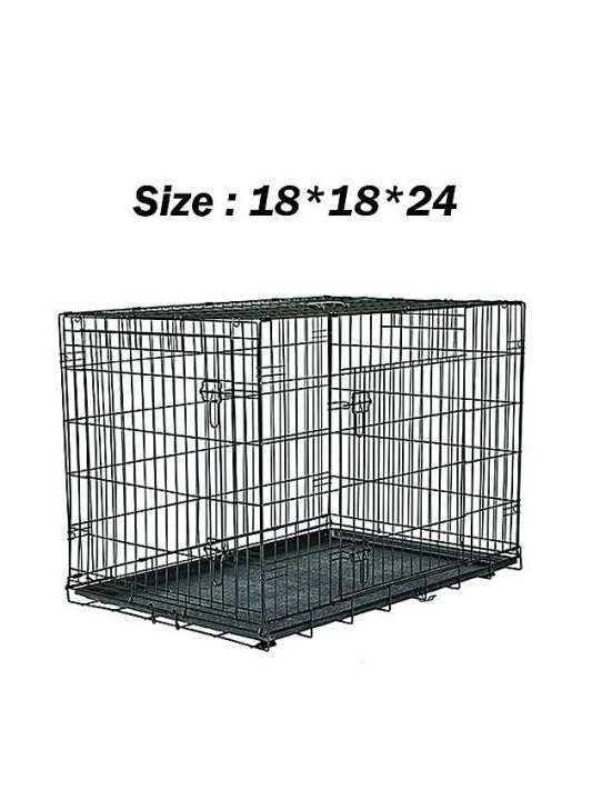 Folding Cage For Cats , Kitten & Puppies - Black