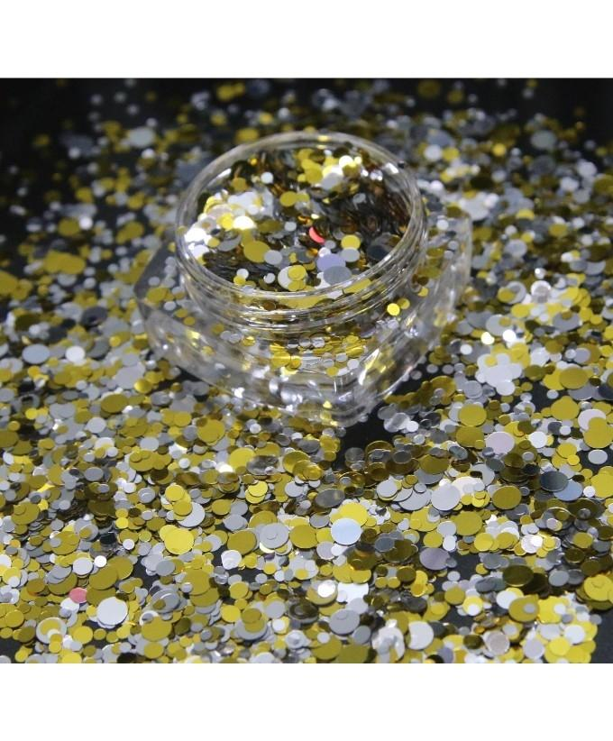 3g Silver Golden and Black Glitter Pot For Nails