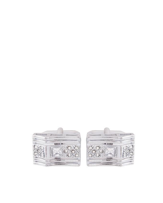 Silver Rhodium Cufflinks for Men - C-084