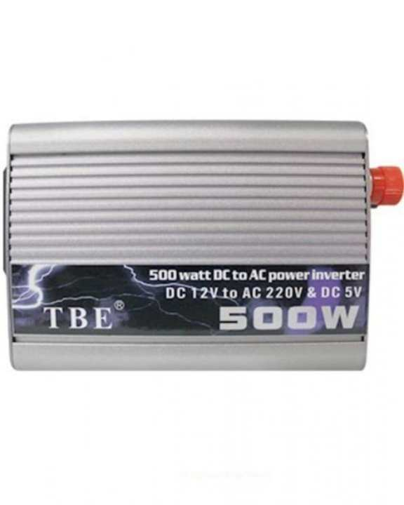 DC 12V to AC 220V Power Inverter - 500W - Silver
