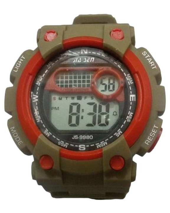 Digital Sports Wrist Watch for Men - Light Brown