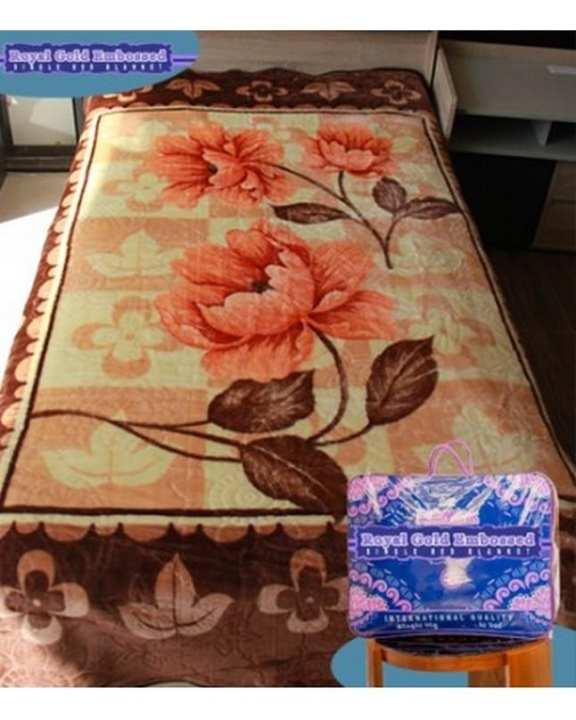 Royal Gold Single Bed Blanket - Design D554 / 2017