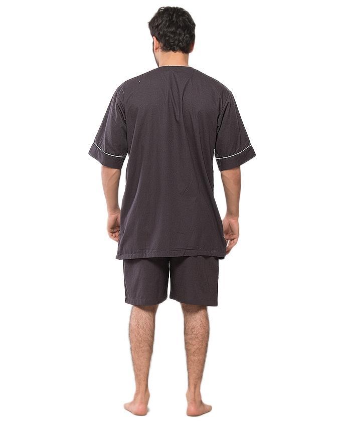 Grey 85% Cotton 15% Polyester Nightwear for Men - PJ333 CHC