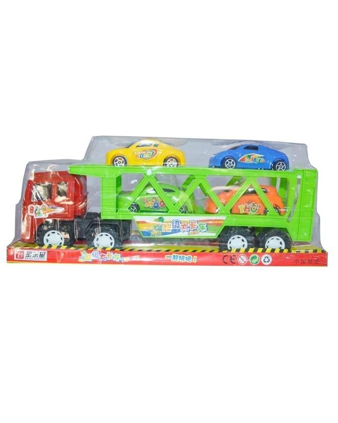 Friction Truck with 4 Cars - Multicolor