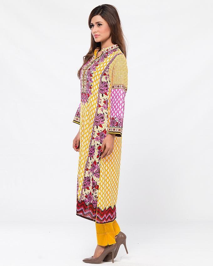 Multicolor Lawn Printed Suit for Women - 3Pcs