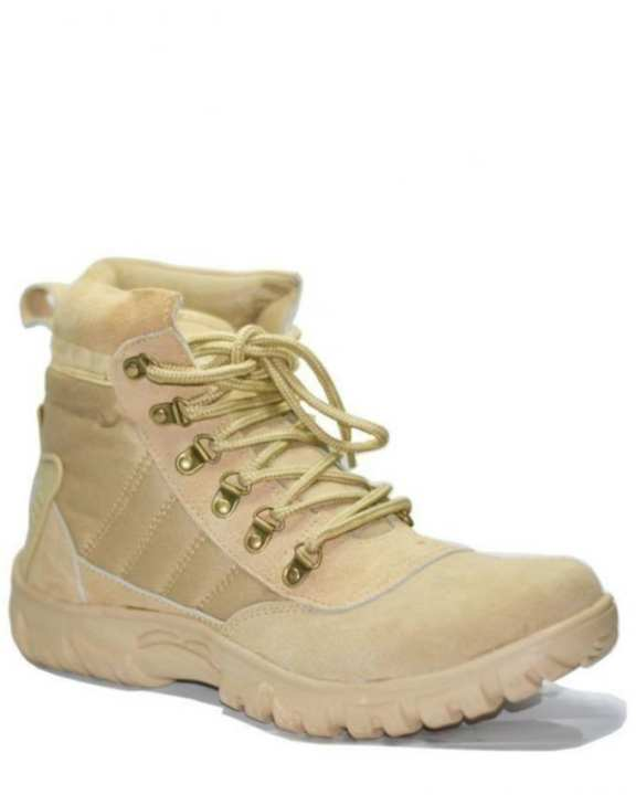 Beige Suede Army Boots for Men - EP_1003