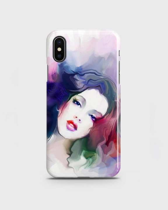 Cover For Iphone Xs Max Hard Girl Face Print -1cover2817