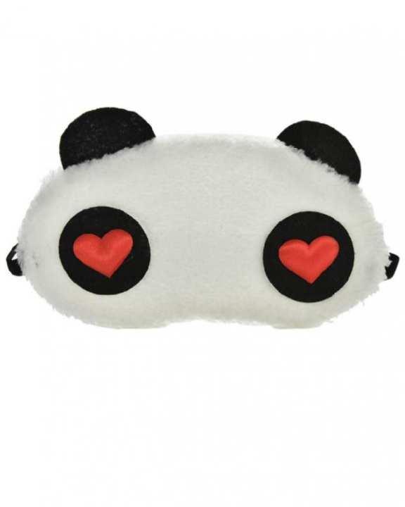 White Panda Soft Blindfold Eye Shade Sleep Mask